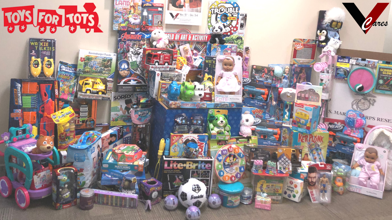 Vestal Corporation VestalCARES supports the marines toys for tots 2020