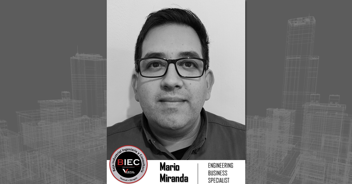 Baja Industrial Engineering and Consulting, a wholly owned subsidiary of Vestal Corporation - Engineers | Architects | Construction Consultants Welcomes Mario Miranda